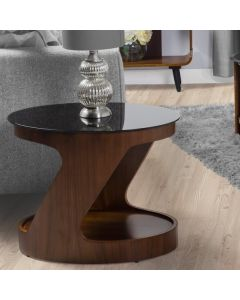 JF304 San Marino Oval Side Table in Walnut by Jual at Price Crash Furniture. Matching items available. Also in Oak