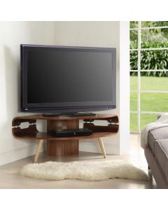 JF701 Havana Corner TV Stand in Walnut by Jual at Price Crash Furniture. Matching items available