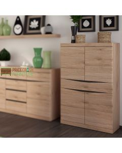 Kensington Living 4 Door 1 Drawer Cabinet Cupboard in Oak at Price Crash Furniture. Matching items also available.