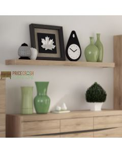 Kensington 150cm Wall Shelf in Oak at Price Crash Furniture. Matching items also available.