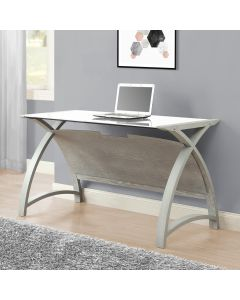 PC201 Helsinki 1300 Laptop Table in Grey by Jual at Price Crash Furniture. Matching home office furniture items also available.