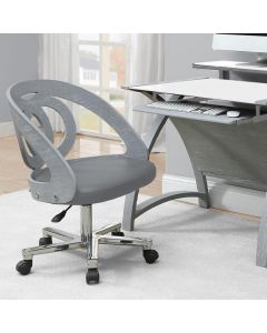 PC606 Helsinki Office Desk Chair in Grey by Jual at Price Crash Furniture. Matching home office furniture items available.