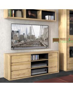 "Shetland 1 Door 3 Drawer TV Cabinet - Up To 60"" TVs at Price Crash Furniture. Matching items available."
