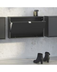 Shoe Cabinet: 1 compartment with 1 layer in Matte Black at Price Crash Furniture. other sizes and colours available