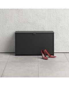 Shoe Cabinet: 1 compartment with 2 layers in Matt Black at Price Crash Furniture. Other sizes and colours also available