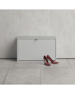 Shoe Cabinet: 1 compartment with 2 layers in White at Price Crash Furniture. Other sizes and colours also available