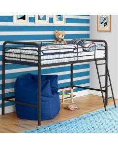 Single Mid-sleeper Bunk Bed in Black Metal by Dorel at Price Crash Furniture. Also in Grey or White