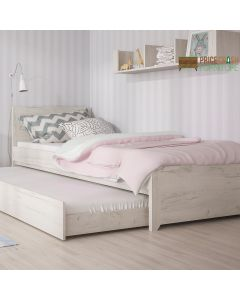 Angel Single Bed with Underbed Drawer in White Oak at Price Crash Furniture. Matching items available.