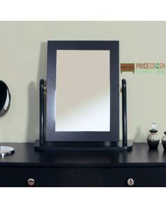 Steens Baroque Vanity Dressing Table Mirror in Black at Price Crash Furniture. Matching items available. Also available in Grey or White.