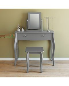 Steens Baroque 1 Drawer Vanity Dressing Table in Grey at Price Crash Furniture. Matching items available. Also available in White and Black