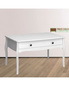 Steens Baroque Rectangular Coffee Table in White