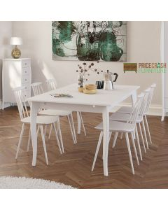 Steens Baroque 190 cm Dining Table in White at Price Crash Furniture. Matching items available