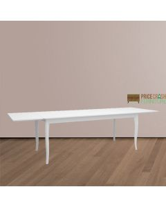 Steens Baroque 190 cm Extending Dining Table in White at Price Crash Furniture. Matching items available