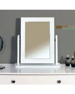 Steens Baroque Vanity Dressing Table Mirror in White at Price Crash Furniture. Matching items available. Also available in Grey or Black.