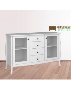 Steens Baroque 2 Door 4 Drawer Glazed Sideboard