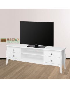 Steens Baroque TV Stand 160 cm in White