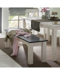 Steens Monaco Bench/Occasional Table In Whitewash