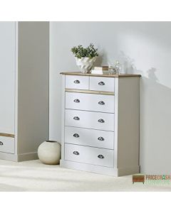 Steens Sandringham 2+4 Drawer Chest Of Drawers in Grey at Price Crash Furniture. Matching items available. Also available in White.