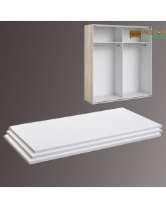 Verona Set of 3 Extra Shelves - Wide (for 180cm wardrobe) in White at Price Crash Furniture. Other sizes and colours available