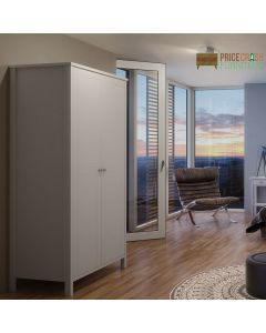 Steens Tromso Tromsö 2 Door Wardrobe in White at Price Crash Furniture. Matching items available. Also in Grey or Black