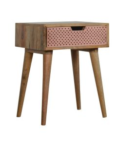Perforated Copper Bedside Table at Price Crash Furniture. Matching items available.