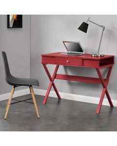 Paxton Laptop Computer Desk in Red by Dorel