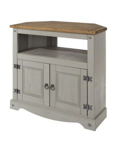 Core Products Corona Grey Washed Corner TV Unit