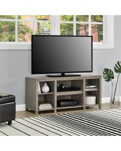 Parsons Wooden Small TV Stand In Rustic Oak for up to 50 inch TVs by Dorel at Price Crash Furniture