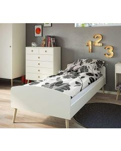 Steens Soft Line Single Bed Retro Style White