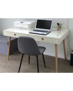 Steens Soft Line Retro Style Laptop Table / Desk In White