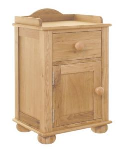 Baumhaus Amelie Oak Bedside Cabinet (one door one drawer) - CCO10A