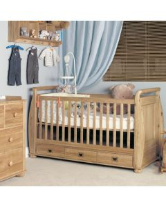 Baumhaus Amelie Oak Cot-Bed with Three Drawers - CCO11A
