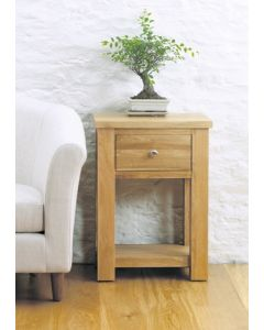 Baumhaus Aston Oak One Drawer Lamp - CVR10A