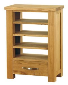Baumhaus Aston Oak Home Entertainment Cabinet - CVR09C
