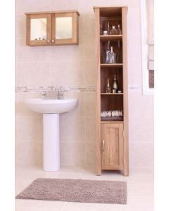 Baumhaus Mobel Oak Wall Mounted Bathroom Cabinet (Large) - COR19D
