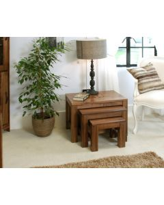 Baumhaus Mayan Walnut Nest of 3 Coffee Tables - CWC08A