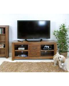 Baumhaus Mayan Walnut Widescreen Television Cabinet - CWC09B