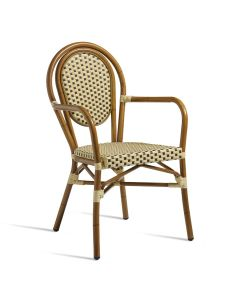 TIME Arm Chair – ZA.421C – Brown and Cream
