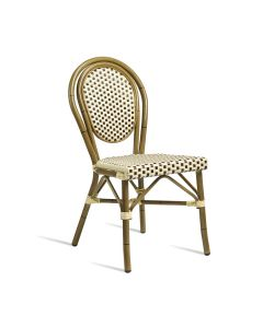 TIME Side Chair – ZA.318C – Brown and Cream