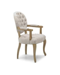 Chambord Natural Carver Chair Walnut Legs