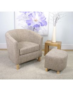 Tweed Tub Chair Set