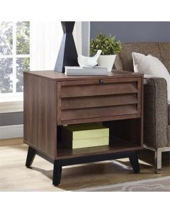 Vaughn Accent Side Table in Walnut by Dorel at Price Crash Furniture