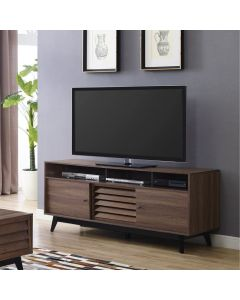 Vaughn TV Stand with Sliding Doors in Walnut by Dorel at Price Crash Furniture