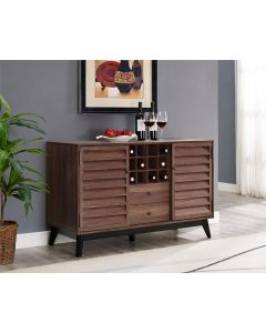 Vaughn Wine Cabinet Sideboard in Walnut by Dorel at Price Crash Furniture