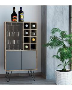 Core Products Vegas Bleached Oak Effect Wine Cabinet