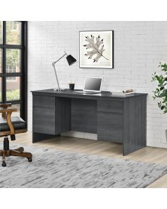 Presley Executive Desk in Weathered Oak by Dorel