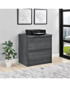 Presley Lateral Filing Cabinet in Weathered Oak at Price Crash Furniture