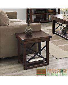 Wildwood rustic end table in Espresso by Dorel at Price Crash Furniture