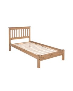 "Capri 3'0"" Slatted Lowend Single Bed Frame in Waxed Pine at Price Crash Furniture. Matching items available"