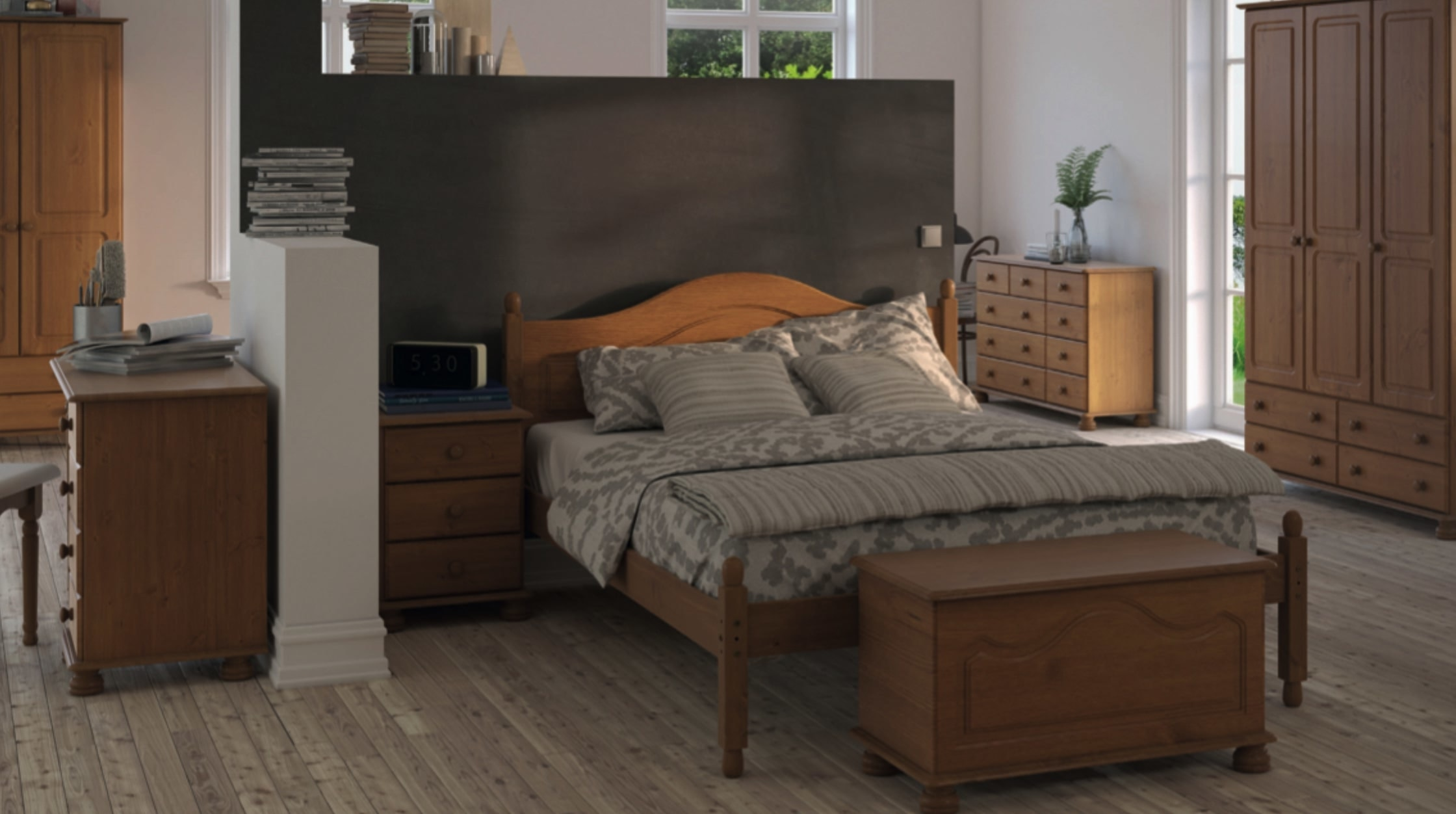 Copenhagen Cheap White Bedroom Furniture